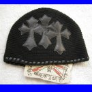 A&G : F6H-C8BLK VINTAGE CEMETARY CROSS CASHMERE BEANIE CAP - BRAND NEW WITH TAGS