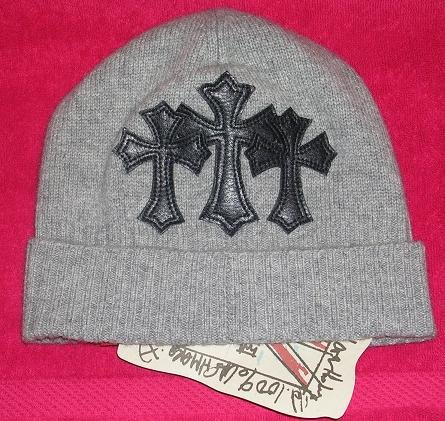 A&G : BF-C8GRY VINTAGE CEMETARY CROSS CASHMERE BEANIE CAP - BRAND NEW WITH TAGS