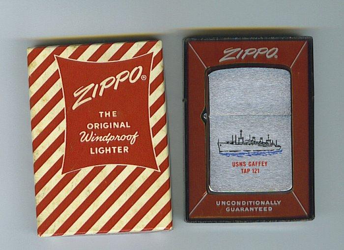 ZIPPO : 1961 USNS GAFFEY TAP 121 ZIPPO LIGHTER  - OUT OF STOCK