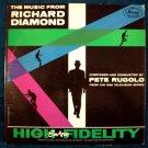 """ THE MUSIC OF RICHARD DIAMOND ""   Pete Rugolo   1959 LP"