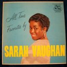 "SARAH VAUGHAN   "" All Time Favorites ""   1963 LP"