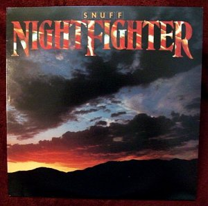 """SNUFF  """" Night Fighter """"   1983  LP signed by all 6 band members"""
