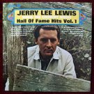 """JERRY LEE LEWIS     """" Hall of Fame Hits Vol. 1 """"  1969 LP"""