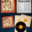 """AMOS 'N' ANDY   """" The Best Loved Shows """"  3 LP Boxed Set"""