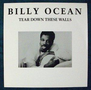 """BILLY OCEAN   """" Tear Down These Walls """"   1988 R&B LP"""
