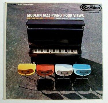 MODERN JAZZ PIANO ~ Four Views    1958 LP   Tatum / Garner / Williams / Tristano