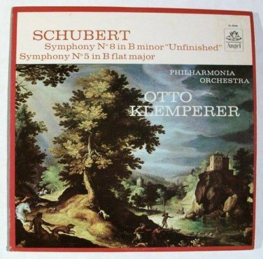 "FRANZ SCHUBERT ~ Symphony No. 8 in B Minor ""Unfinished"" / Symphony No. 5    LP"