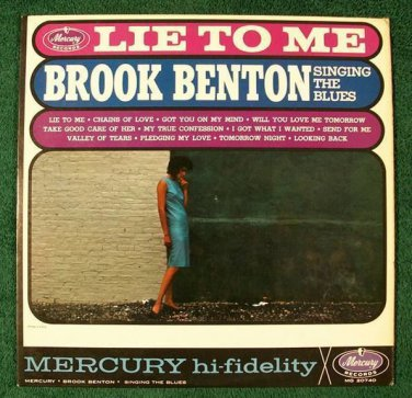 """BROOK BENTON Singing The Blues     """" Lie To Me """"      1962 R&B LP"""