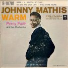JOHNNY MATHIS  ~  Warm   ***   1958 45rpm EP  /  Cardboard Pic Sleeve