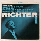 SCHUBERT  ~  Sonata In C Major / Allegretto In C Minor  +     S. Richter   LP