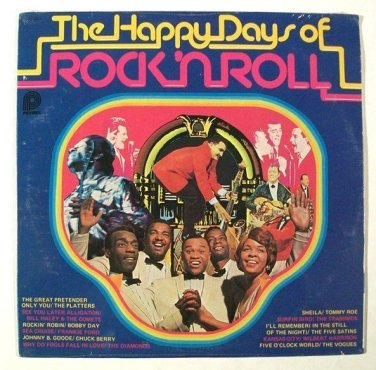 The HAPPY DAYS OF ROCK 'N ROLL   /    Various Artists LP     MINT-Unopened
