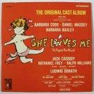SHE LOVES ME   ~   1963 Original Cast Album / Stereo DOUBLE LP