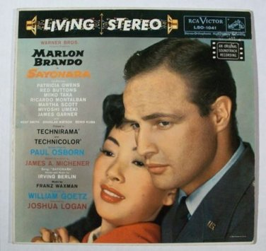 SAYONARA   ~   1957 Original Soundtrack Recording LP     Marlon Brando