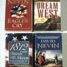 DAVID NEVIN  ~  LOT of ( 4 ) Historical Novels     Excellent Paperbacks