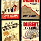 SCOTT ADAMS / DILBERT     Lot of ( 4 ) Humor Classics   Business Spoof   HC/DJ