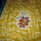 Yellow Sari with Floral Design
