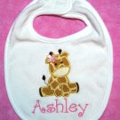 Silly Giraffe Personalized Appliquéd Bib BOY OR GIRL