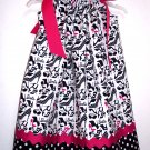 Retro Barbie Pillowcase Dress with Hair Bow & Monogramming