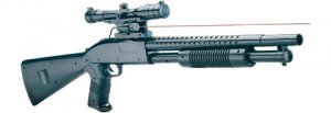 P799A Airsoft Full Size Pump Shotgun with Laser spring powered airsoft gun