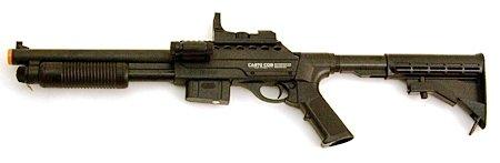 Shotgun - Full Size w/ AR Stock spring powered airsoft gun