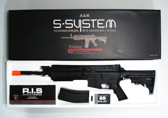 A&K S-System M4A1 electric airsoft gun full metal automatic rifle