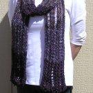 Hand Knitted Scarf # 105 Purple Rain Mohair