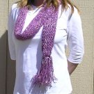 Hand Knitted Scarf # 108 Purple Does It
