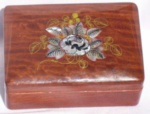 Ukrainian Wooden Lacquered Decorative Trinket Box