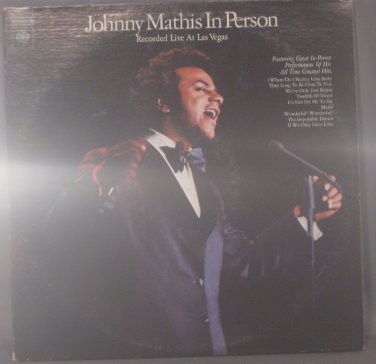 Johnny Mathis In Person Recorded Live At Las Vegas - 2 Vinyl LPs