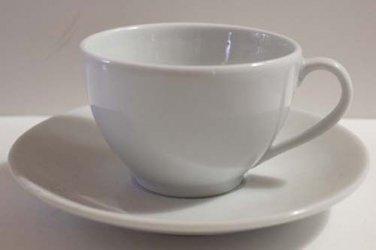Apilco France Cup & Saucer Williams Sonoma Bistro White Coffee Tea Porcelain New