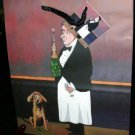 Gift Bags Guy Buffet Pour Moi? Champagne Chef Dog Cards Set 2 New