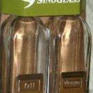 Sinoglass Oil & Vinegar Set Cruets Cubi Glass Bottles New