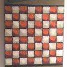 Folk Art Game Board Wall Plaque Checkerboard Primitive K. Graybill Hand Painted