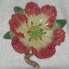 Fitz & Floyd Wall Plaque Majolica Magnolia Decor Plate Figural Stoneware New