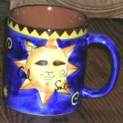 Celestial Mug Celestial Sun Moon Star Coffee Tea Soup Stoneware French Words New