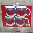 Sakura Warren Kimble Mugs American as Apple Pie Flag Coffee Soup Tea Set 4 New
