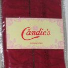 Candie's Sham Apple Pie Euro European Beaded Ruched Hot Pink Cotton New