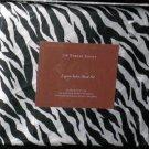 Divatex Sheet Set Full Luxury Satin Poly Zebra Black White Stripe Print New