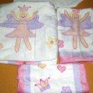 Royal Company Towel Set Fairy Princess Bath Hand Wash Crowns Flowers 3pc New