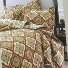 Stone Cottage Quilt Shams Set 3pc Brighton Autumn Spice Twin Geometric Cotton