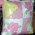 Thats Mine Pillow Flower Crazy Applique Embroidery Patchwork Kids Expression New