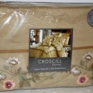 Croscill Queen Sheet Set Coral Springs Spice 300 TC 100% Cotton Sateen New