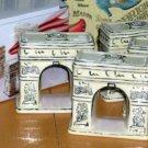 Arc de Triomphe Napkin Holders Paris Decor Ceramic Studio Nova 4 Piece New Box