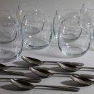 Libbey Glass Bowls & Spoons Mini Dessert Fruit Glasses Aperitif 16 Piece Set New