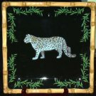 Raymond Waites Platter Safari Jungle Snow Leopard Serving Stoneware Collectible