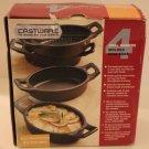Tabletops Cast Iron Oval Bakers Handled Casseroles Castware Bakeware New Set 4