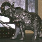 Platinum Stainless Steel Silver Elephant Statue Metal Etched Embossed Cast New
