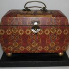 Elephant Fan Box Container Trunk Handled Wood Storage Taj Mahal British New #2