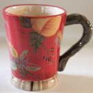 Tracy Porter Mug Octavia Hill Coffee Tea Cocoa Fruit Flowers Stoneware  New