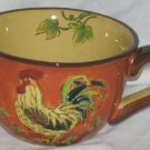 Rooster Mug Sunflowers Tuscan Style Cappuccino Coffee Tea Soup Cocoa New